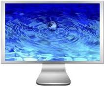 computerscreeenwaterglobe