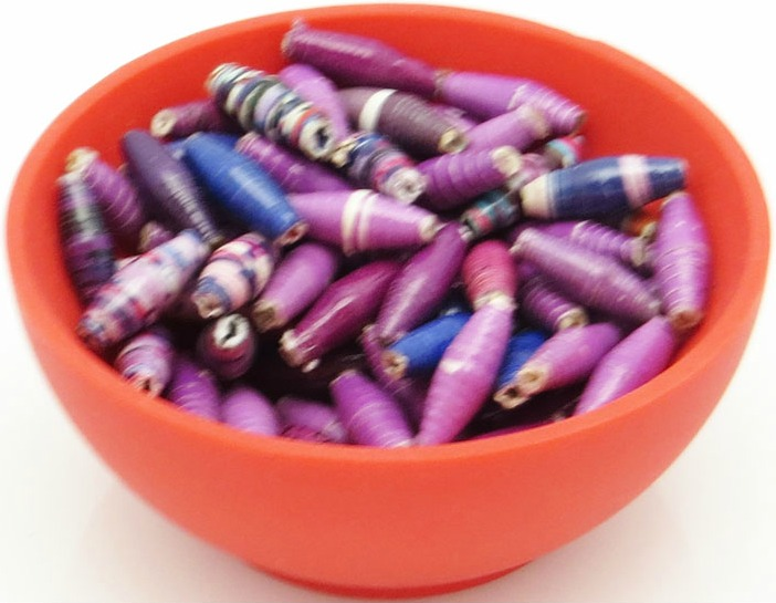 Skinny beads - purple mix