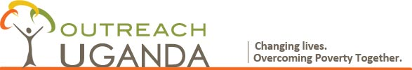Outreach Uganda Logo. Tagline: Changing Lives. Overcoming Poverty Together.