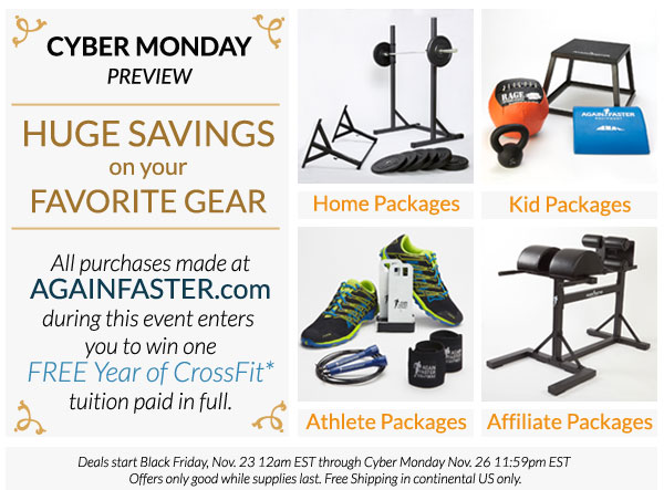 Again Faster Cyber Monday Preview
