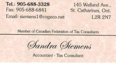 Sandra Siemen's Tax Service