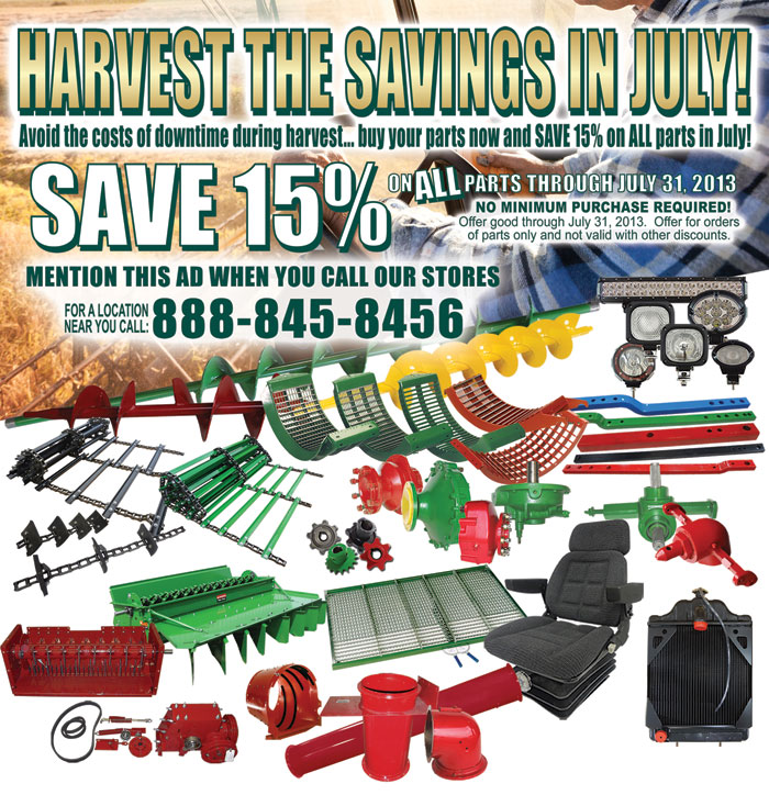 Harvest the savings in July
