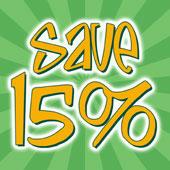 Save 15%