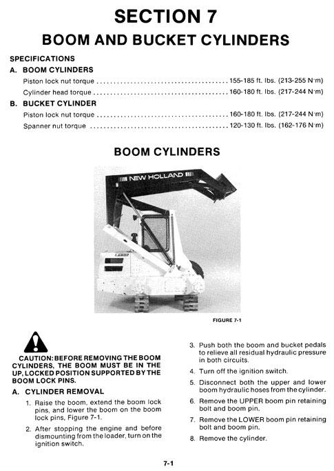 New Holland L550-L555 Skid Steer/Loader Service Manual