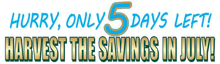 Hury, 5 Days Left!