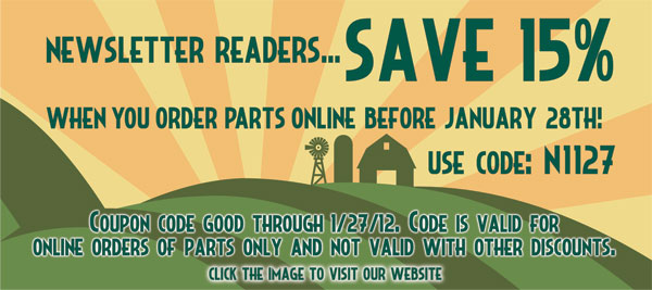 Newsletter Readers Save 15%