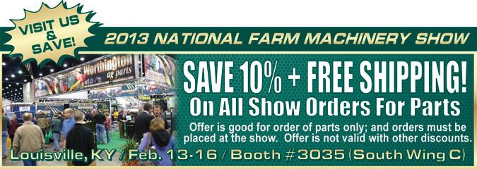 Save 10% + Free Shipping at the National Farm Show