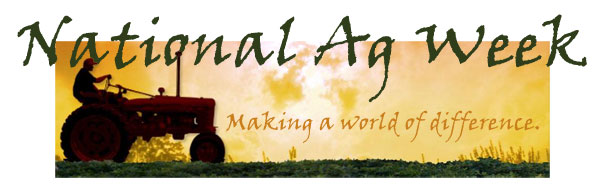 National Ag Week... A world of difference