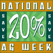 National Ag Week - Save 20% Online