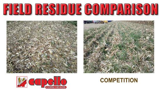 Capello Corn Heads - Field Residue Comparison