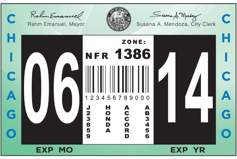 Chicago City Vehicle Stickers Now On Sale