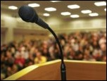 meeting podium