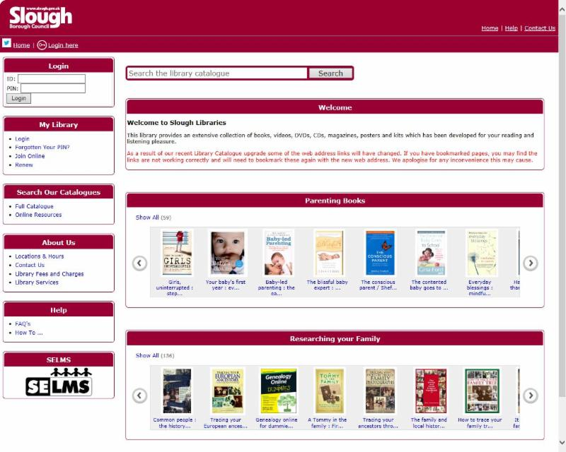 Visit the library catalogue and find what books and items we have available