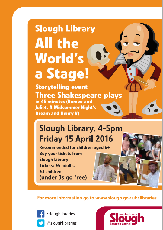 Shakespeare for the family Friday 15 April 4pm_