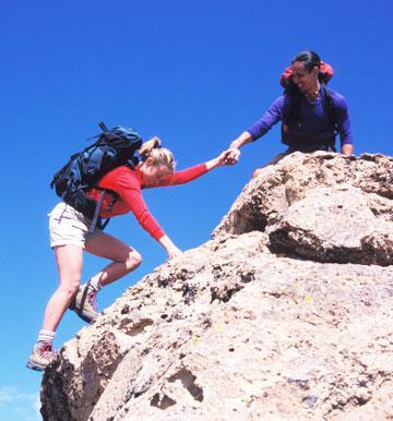 partners climbing
