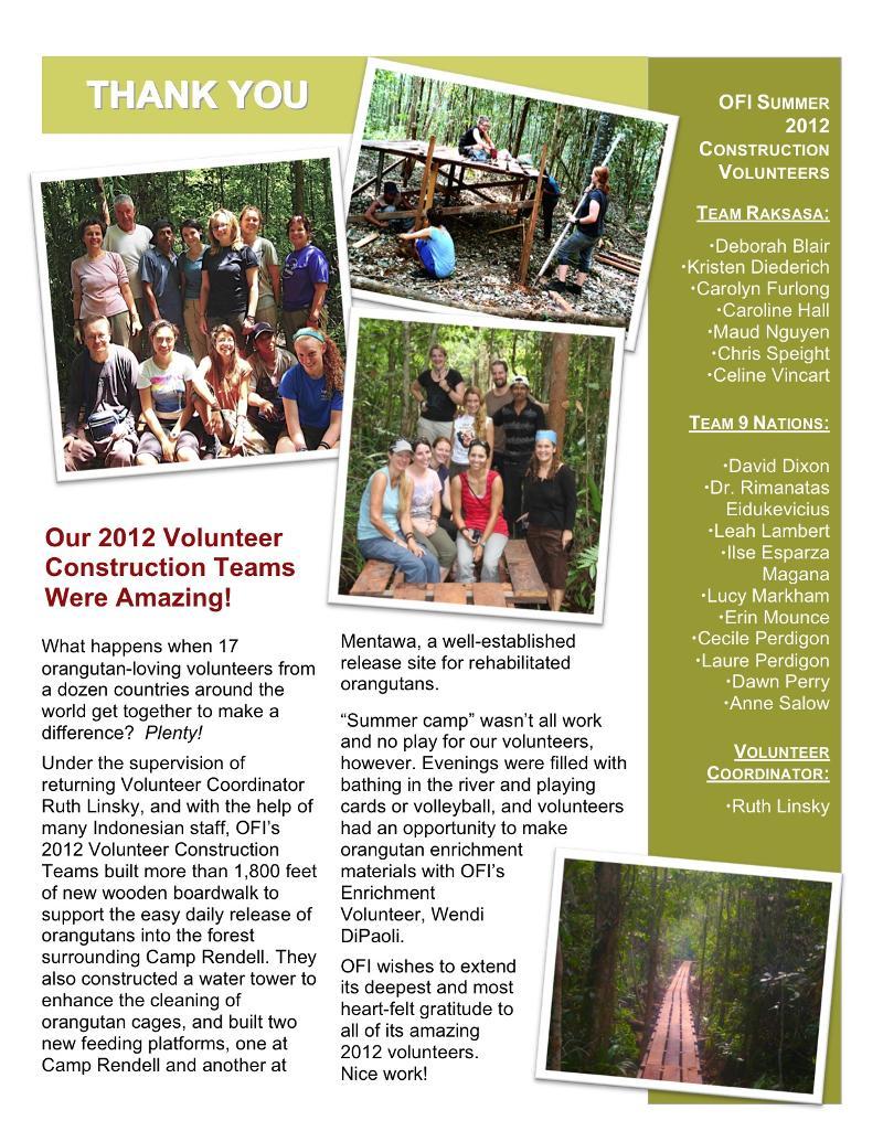 Volunteer Team TY 2012