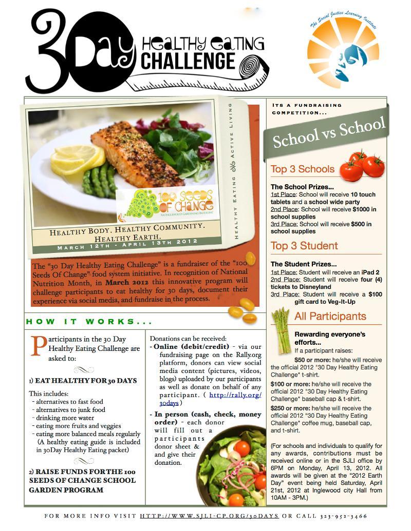 30 Day Healthy Eating Challenge   We Challenge You!