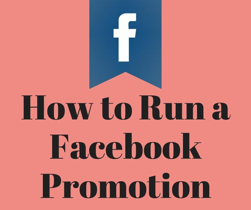 Run a facebook fan promotion