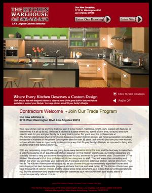 The Kitchen Warehouse website