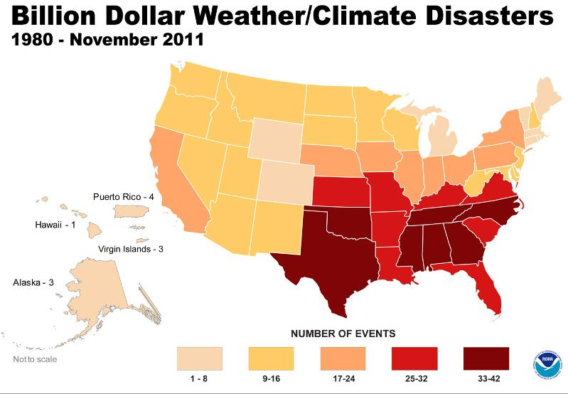 Stats with Billion Dollar Disasters
