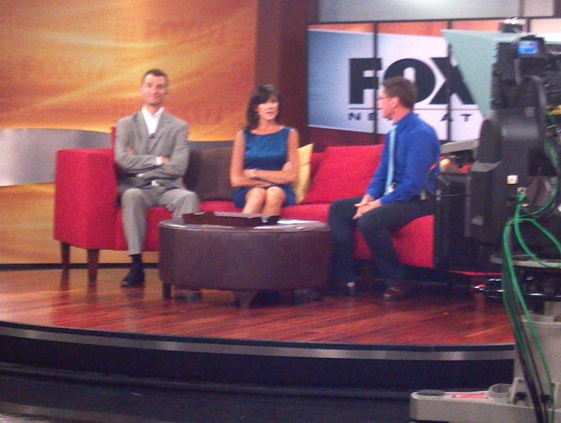 on the set at FOX 17