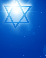 star of david on a blue background