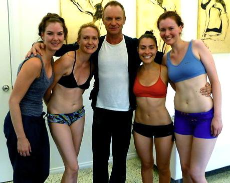 Sting At A Bikram Yoga Studio