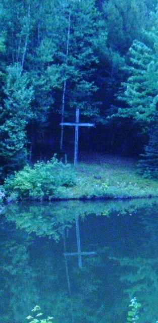 cross reflection in the pond