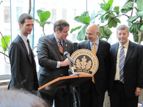 USGBC presenting LEED Plaque to World Bank