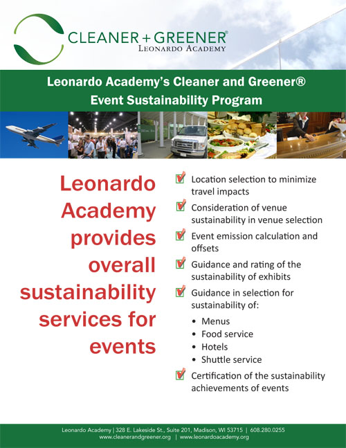 Cleaner and Greener Event Flyer