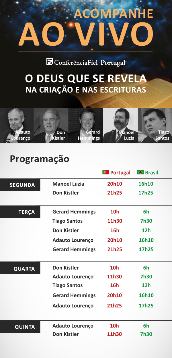 Acompanhe Ao Vivo a Conferência Fiel em Portugal: http://fiel.in/assistaAoVivo