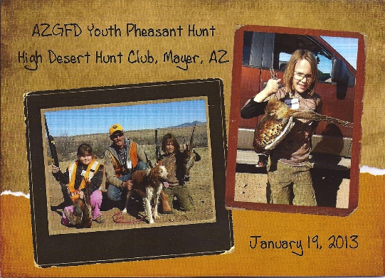 AZSFWC Fund Youth Pheasant Hunt