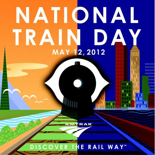 National Train Day logo
