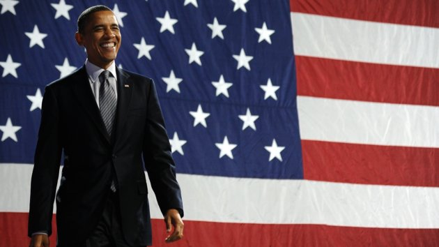 Obama Photo with Flag