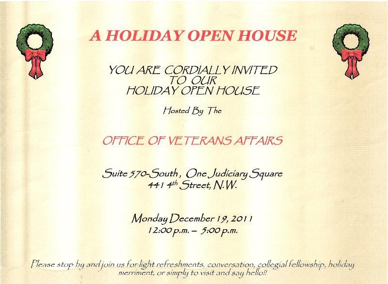 OVA Holiday Open House