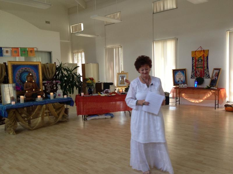Dr. Mary Clark speaking at the Wesak Meditation