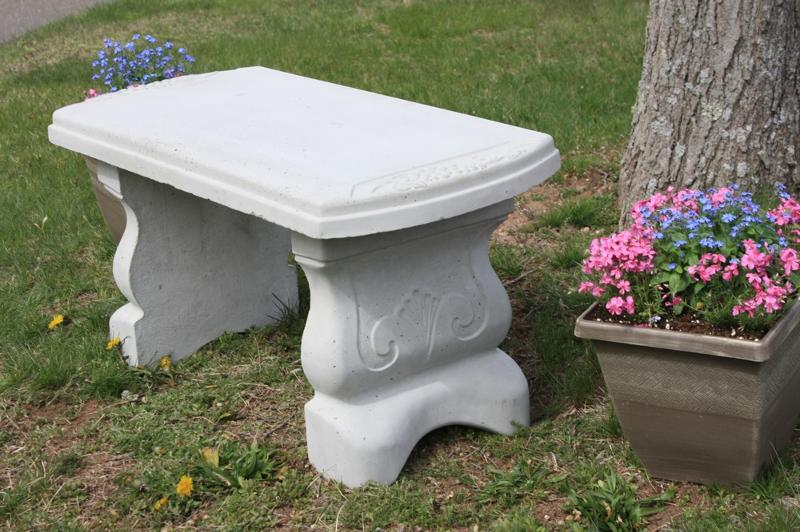 ... Cement Garden Bench SizeMore . May Customer Appreciation Sale On Site  Furnishings