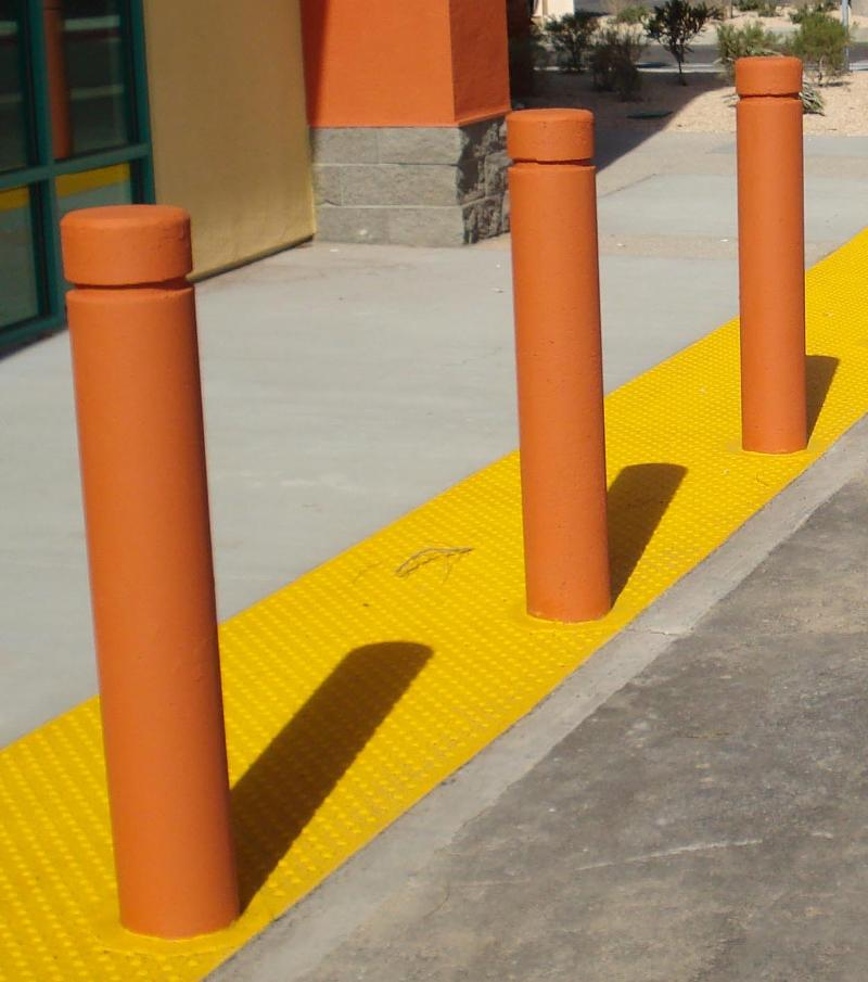 Orange 8in Concrete Bollard cropped