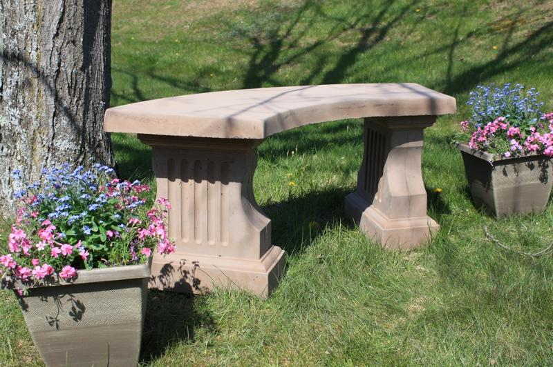 Coliseum Curved Bench