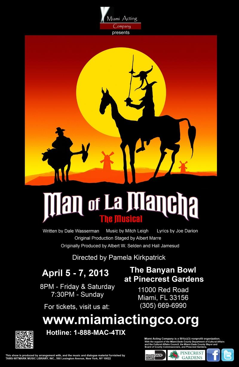 man of la mancha essay Essays - largest database of quality sample essays and research papers on man of la mancha.
