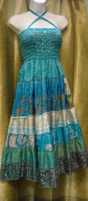 sari blue dress