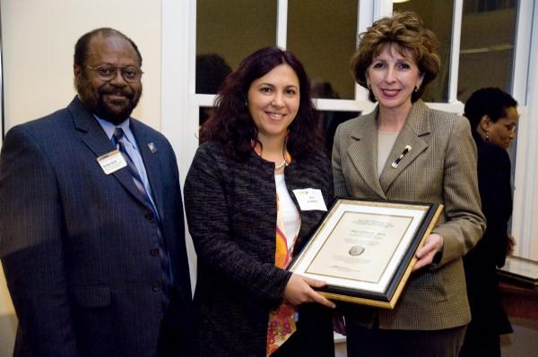 Dr. Ana Corbacho Accepting Chancellor's Award