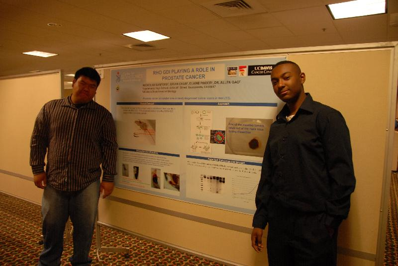 CURE Students at the 2009 UCD Cancer Center Poster Symposium