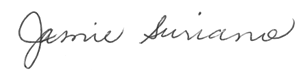 Jamie Suriano Signature