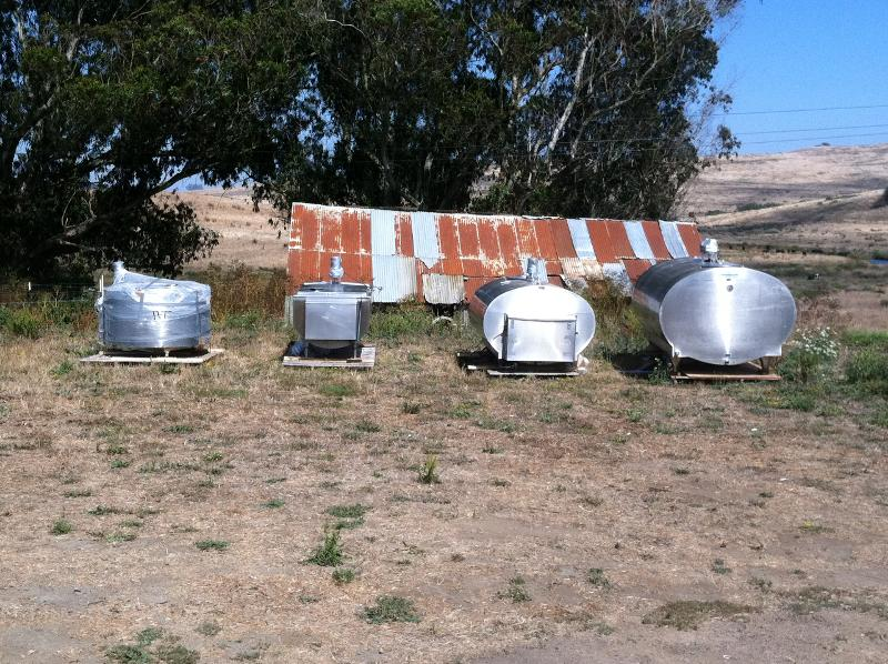 milk tanks