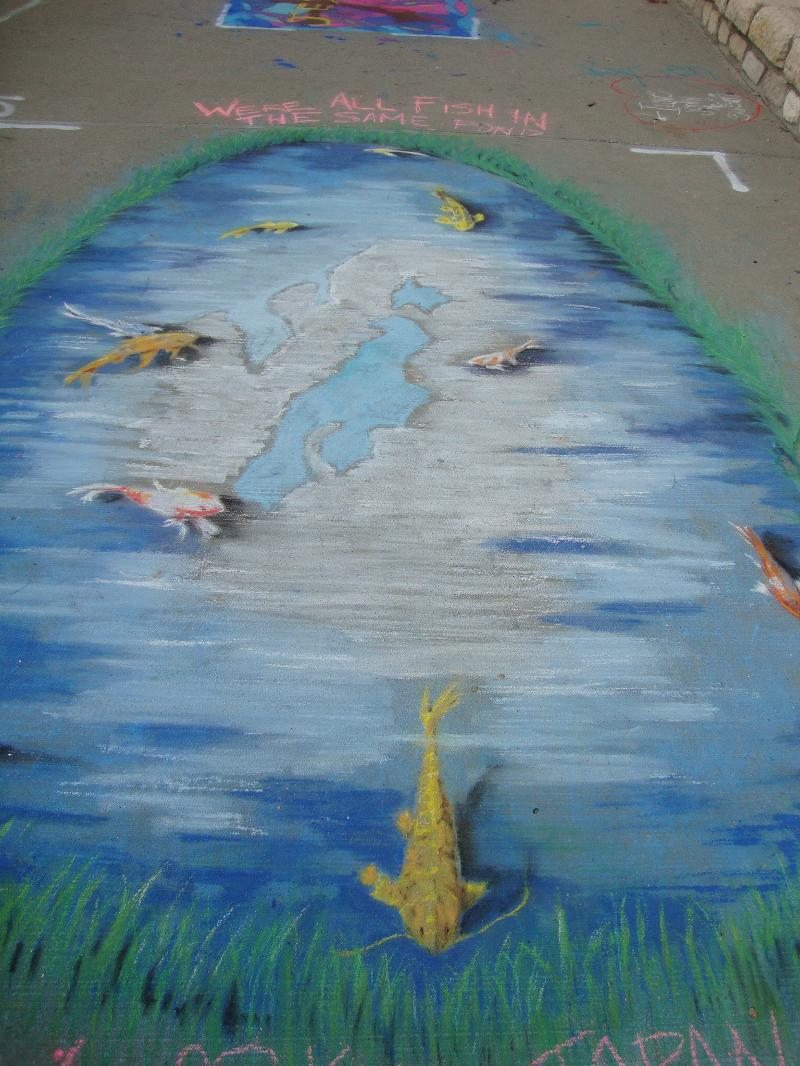 japan chalk art