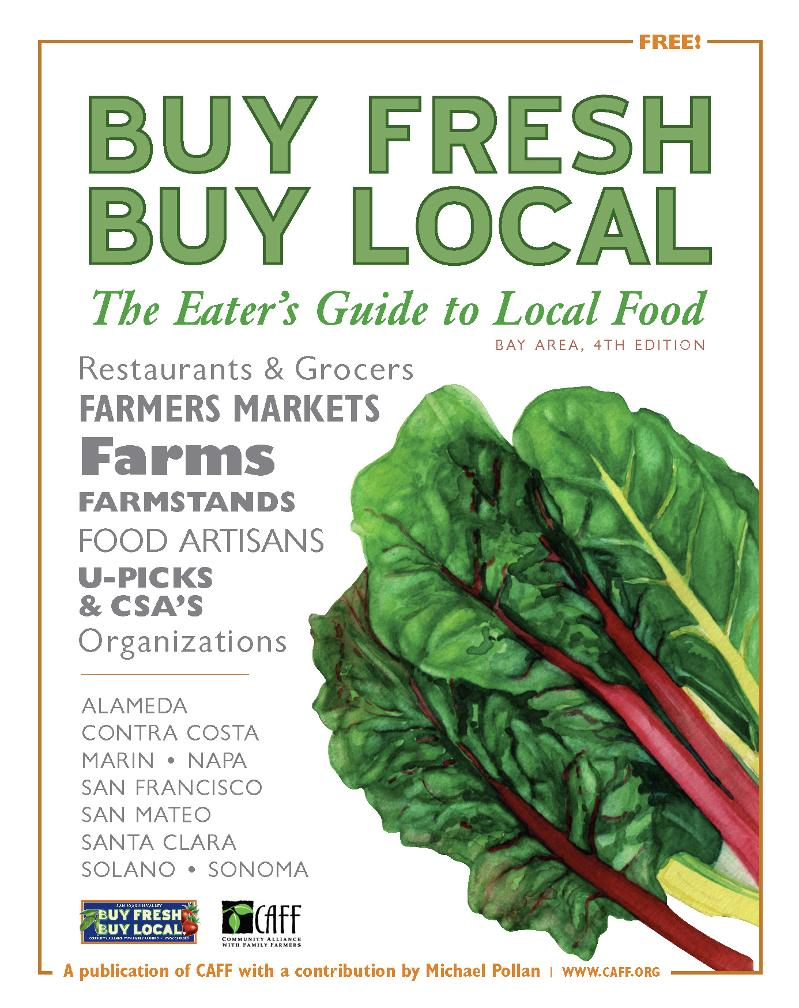 Bay Area food guide cover.