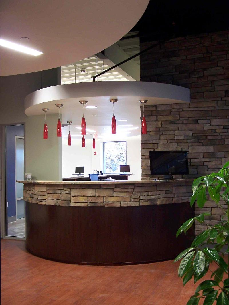 Dr. Gruelle's new reception area