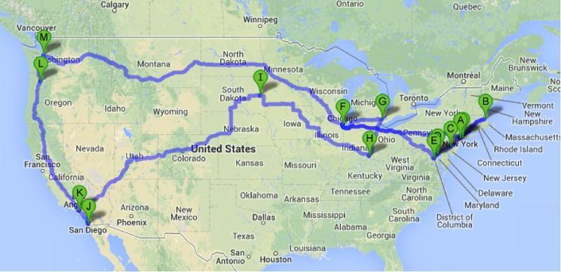 Schuller tour map