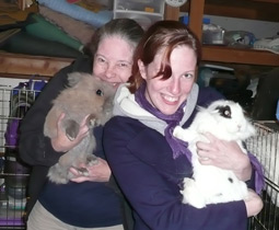 Bandit and Willow with family